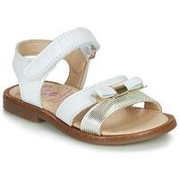 Topánky Dievčatá Sandále Pablosky LOLLA Biela / Zlatá