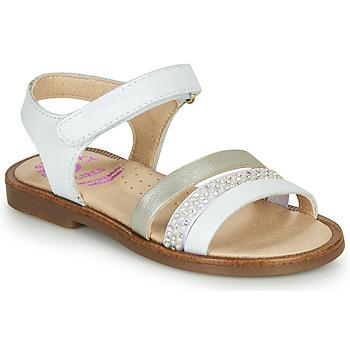 Topánky Dievčatá Sandále Pablosky PINNA Biela / Perleťová