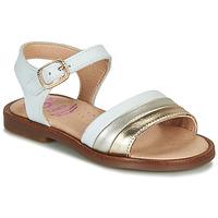 Topánky Dievčatá Sandále Pablosky  Biela / Zlatá