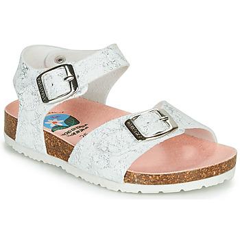 Topánky Dievčatá Sandále Pablosky SATTO Biela / Strieborná