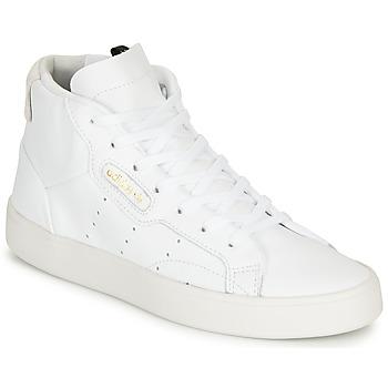 Topánky Ženy Členkové tenisky adidas Originals adidas SLEEK MID W Biela