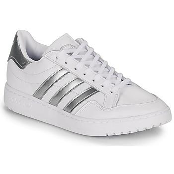 Topánky Ženy Nízke tenisky adidas Originals MODERN 80 EUR COURT W Biela / Strieborná
