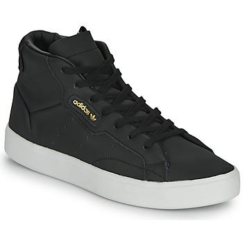Topánky Ženy Členkové tenisky adidas Originals adidas SLEEK MID W Čierna