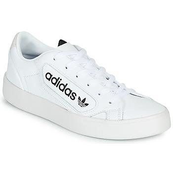 Topánky Ženy Nízke tenisky adidas Originals adidas SLEEK W Biela