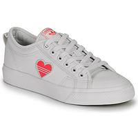 Topánky Ženy Nízke tenisky adidas Originals NIZZA TREFOIL W Biela