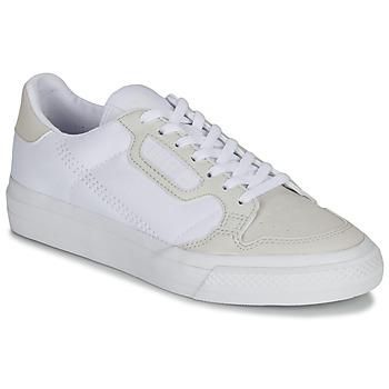 Topánky Deti Nízke tenisky adidas Originals CONTINENTAL VULC J Biela / Béžová