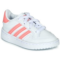 Topánky Dievčatá Nízke tenisky adidas Originals NOVICE EL I Biela / Ružová