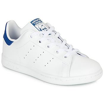 Topánky Deti Nízke tenisky adidas Originals STAN SMITH C Biela / Modrá