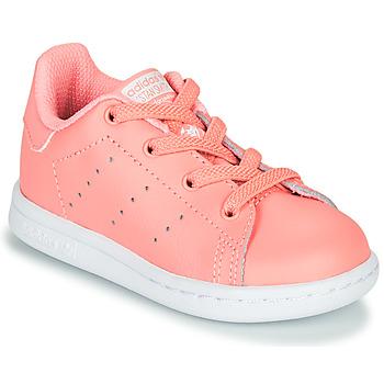 Topánky Dievčatá Nízke tenisky adidas Originals STAN SMITH EL I Ružová