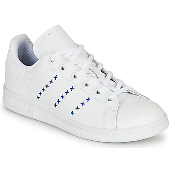 Topánky Deti Nízke tenisky adidas Originals STAN SMITH J Biela / Modrá