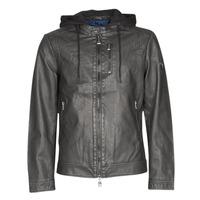 Oblečenie Muži Kožené bundy a syntetické bundy Guess VINTAGE ECO-LEATHER JKT Čierna