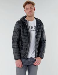 Oblečenie Muži Vyteplené bundy Guess SUPER LIGHT ECO-FRIENDLY JKT Čierna