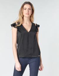 Oblečenie Ženy Blúzky Guess SS DAHAB TOP Čierna