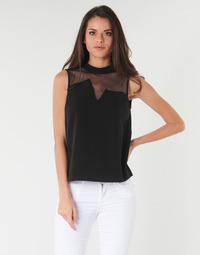 Oblečenie Ženy Blúzky Guess SL MAYA TOP Čierna