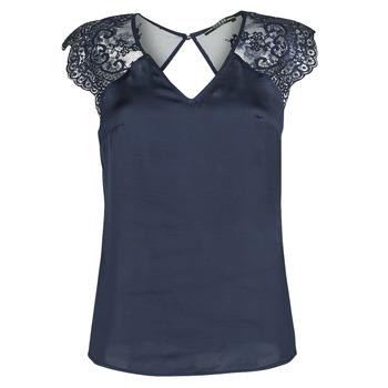 Oblečenie Ženy Blúzky Guess SS ILIA TOP Námornícka modrá