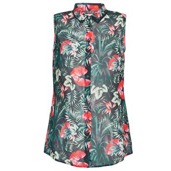 Oblečenie Ženy Blúzky Guess SL CLOUIS SHIRT Čierna / Zelená / Červená