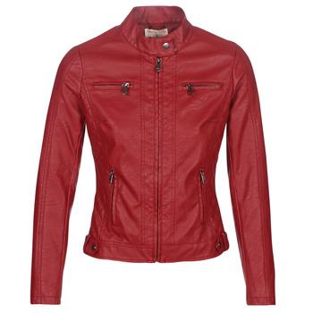 Oblečenie Ženy Kožené bundy a syntetické bundy Moony Mood AW075-ROUGE Červená