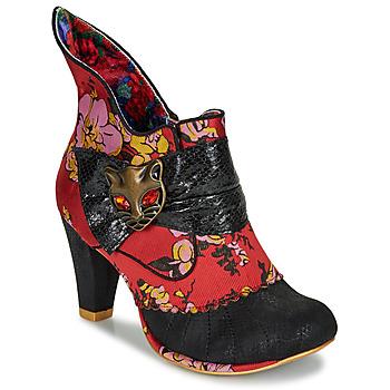 Topánky Ženy Čižmičky Irregular Choice MIAOW Červená / Čierna