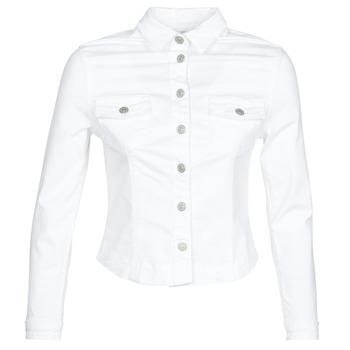 Oblečenie Ženy Džínsové bundy Le Temps des Cerises LILLY Biela