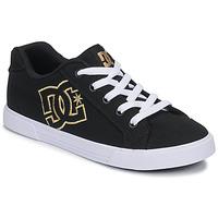 Topánky Ženy Nízke tenisky DC Shoes CHELSEA TX Čierna / Zlatá