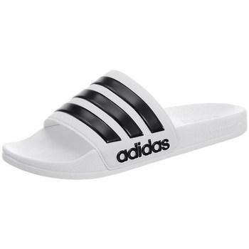Topánky Muži športové šľapky adidas Originals Adilette Cloudfoam Biela,Čierna