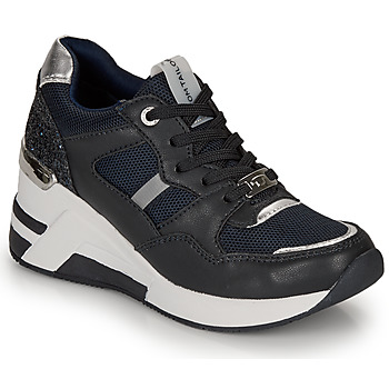 Topánky Ženy Nízke tenisky Tom Tailor 8091512 Námornícka modrá / Čierna