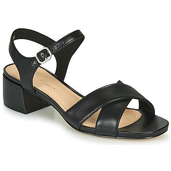 Topánky Ženy Sandále Clarks SHEER35 STRAP Čierna