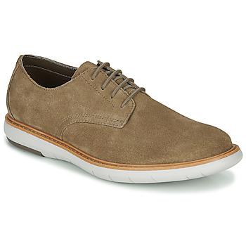 Topánky Muži Derbie Clarks DRAPER LACE Béžová