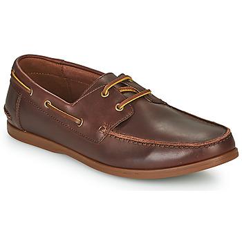 Topánky Muži Derbie Clarks PICKWELL SAIL Hnedá