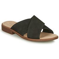 Topánky Ženy Šľapky Clarks DECLAN IVY Čierna