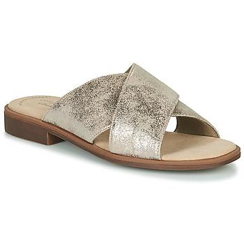 Topánky Ženy Šľapky Clarks DECLAN IVY Strieborná