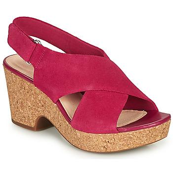 Topánky Ženy Sandále Clarks MARITSA LARA Ružová