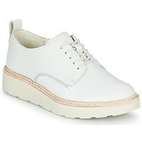 Topánky Ženy Derbie Clarks TRACE WALK Biela