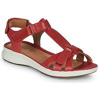 Topánky Ženy Sandále Clarks UN ADORN VIBE Červená