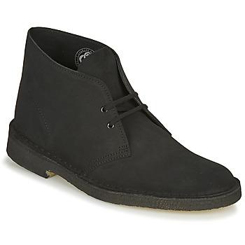 Topánky Muži Polokozačky Clarks DESERT BOOT Čierna
