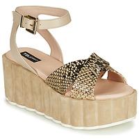 Topánky Ženy Sandále Tosca Blu MOOREA Béžová / Hadí vzor