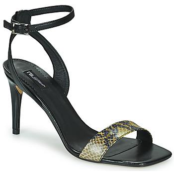 Topánky Ženy Sandále Tosca Blu LA-DIGUE Čierna / Hadí vzor / Žltá