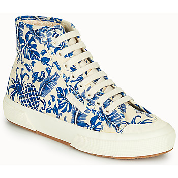 Topánky Ženy Členkové tenisky Superga 2295-COTFANW Béžová / Modrá