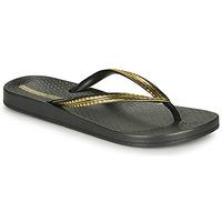 Topánky Ženy Žabky Ipanema MESH IV Čierna / Zlatá
