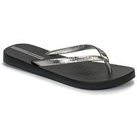 Topánky Ženy Žabky Ipanema GLAM II Čierna / Strieborná