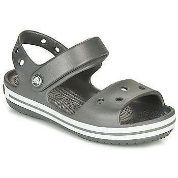 Topánky Deti Športové sandále Crocs CROCBAND SANDAL KIDS Čierna / Biela