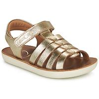 Topánky Dievčatá Sandále Shoo Pom GOA SPART Zlatá