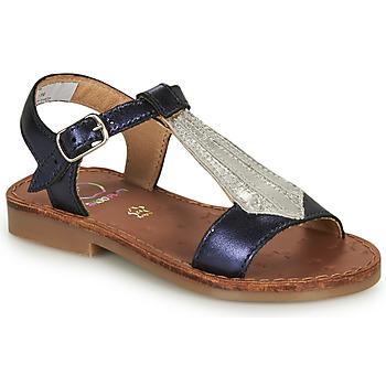 Topánky Dievčatá Sandále Shoo Pom HAPPY TIE Modrá / Strieborná