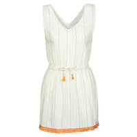 Oblečenie Ženy Krátke šaty Banana Moon MARZUL MANDALO Biela / Oranžová