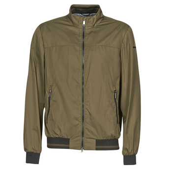 Oblečenie Muži Bundy  Geox TEVERE BOMBER Zelená / Bronzová