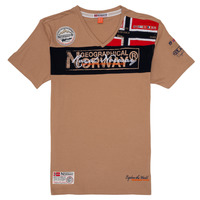 Oblečenie Chlapci Tričká s krátkym rukávom Geographical Norway JIDNEY Béžová