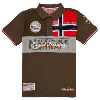 Oblečenie Chlapci Polokošele s krátkym rukávom Geographical Norway KIDNEY Kaki