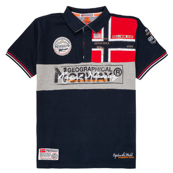 Oblečenie Chlapci Polokošele s krátkym rukávom Geographical Norway KIDNEY Námornícka modrá