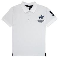 Oblečenie Chlapci Polokošele s krátkym rukávom Geographical Norway KAMPAI Biela