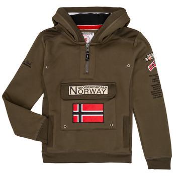 Oblečenie Chlapci Mikiny Geographical Norway GYMCLASS Kaki